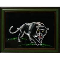 "Картина с кристаллами Swarovski ""Пантера"""