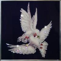"Картина с кристаллами Swarovski ""Мир вашему дому"""