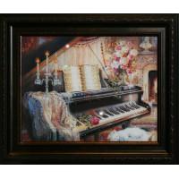 "Картина с кристаллами Swarovski ""Творческий вечер"""