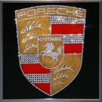 "Картина Swarovski "" Porsche"""