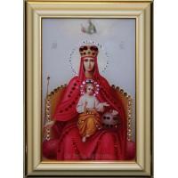 """Картина с кристаллами Swarovski """"Икона Божией Матери Державная малая"""""""