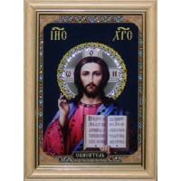 """Картина с кристаллами Swarovski """"Икона Христос Спаситель малая"""""""