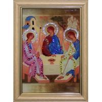 """Картина с кристаллами Swarovski """"Икона Святой Троицы малая"""""""