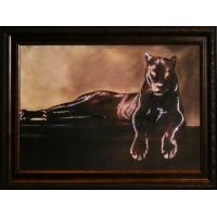 "Картина с кристаллами Swarovski ""Грация пантеры"""