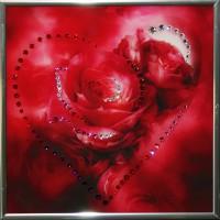 "Картина с кристаллами Swarovski ""Сердечко №2"""