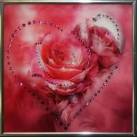"Картина с кристаллами Swarovski "" Сердечко №5"""