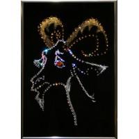"Картина с кристаллами Swarovski ""Подарок года"""