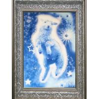 "Картина с кристаллами Swarovski ""Звездная овечка"""