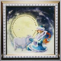 "Картина с кристаллами Swarovski ""Снегурочка 2015"""