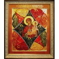 """Картина с кристаллами Swarovski """"Икона Неопалимая купина"""""""