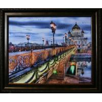 """Картина Сваровски """"Патриарший мост"""""""
