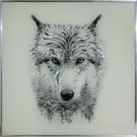 """Картина Сваровски """"Таёжный волк"""""""