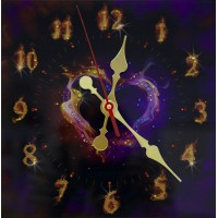 """Часы """"Пламенное сердце"""""""