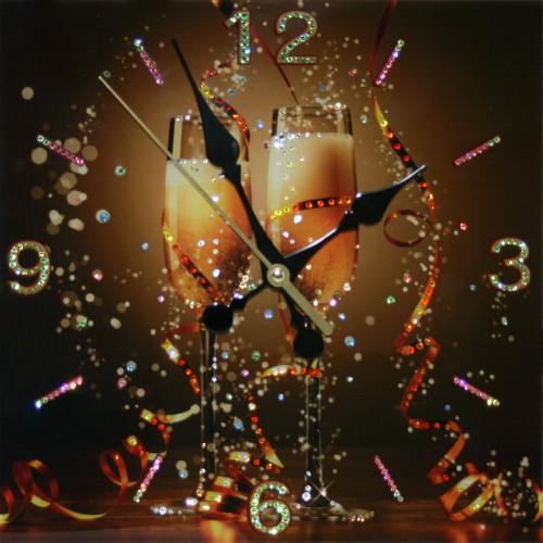 """Часы """"Брызги шампанского"""""""