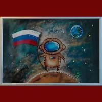 "Картина Swarovski ""Космонавт"""