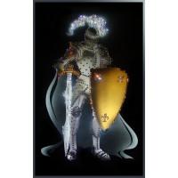 """Картина с кристаллами Сваровски """"Рыцарь круглого стола"""""""