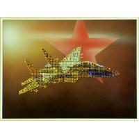 """Картина с кристаллами Сваровски """"Самолет"""""""
