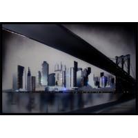 """Картина с кристаллами Сваровски """"Бруклинский мост"""""""