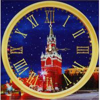 """Картина с кристаллами Сваровски """"Часы """"Куранты-2"""""""""""