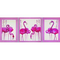 "Картина с кристаллами Сваровски ""Фламинго (триптих)"""