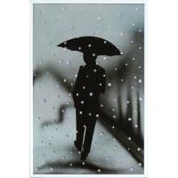 """Картина с кристаллами Сваровски """"Под дождем"""""""