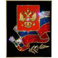 """Картина с кристаллами Сваровски """"Российская символика"""""""