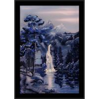 """Картина с кристаллами Сваровски """"Водопад в ночи"""""""