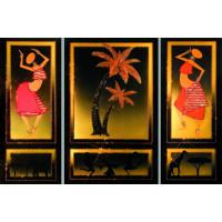 """Картина с кристаллами Сваровски """"Знойная Африка (триптих)"""""""
