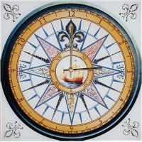 "Картина Swarovski ""Часы ""Морской компас"""""