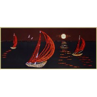 "Картина Swarovski ""Кораблики в море"""