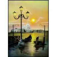 "Картина Swarovski ""Рассвет на Неве"""