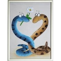 """Картина Сваровски """"Новогодние влюбленные змейки"""""""