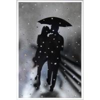 """Картина Сваровски """"Влюбленные под дождем"""""""