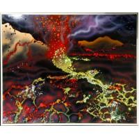 """Картина Swarovski """"Извержение вулкана"""""""