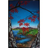 "Картина Swarovski ""Пейзаж с кленами"""