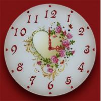 """Картина Swarovski """"Часы """"Стук сердец"""""""""""
