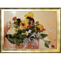 "Картина Swarovski ""Корзина с цветами"""