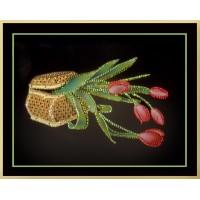 "Картина Swarovski ""Шкатулка с тюльпанами"""