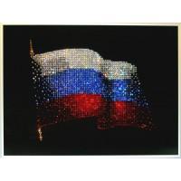 "Картина Swarovski ""Флаг РФ 40х30"""