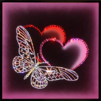 "Картина Swarovski ""Прикосновение любви"""