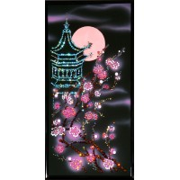 "Картина Swarovski ""Пагода с сакурой"""