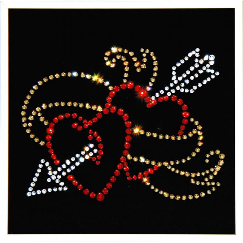 Картина - подставка под горячее 'лилии розовые' 35*25 см. голографическая 3d