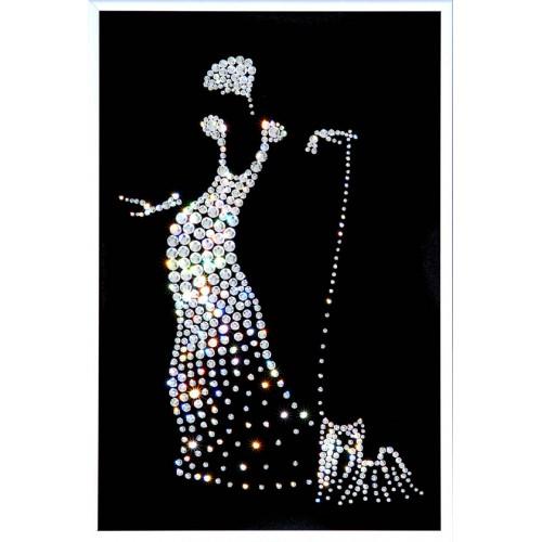 Картина с кристаллами Сваровски