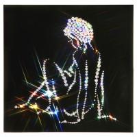 """Картина с кристаллами Сваровски """"Женский силуэт(Нежность)"""""""