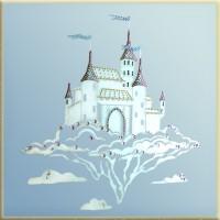 """Картина с кристаллами Сваровски """"Волшебный замок (на зеркале)"""""""