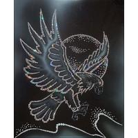 """Картина с кристаллами Сваровски """"Белый орел"""""""