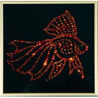 """Картина с кристаллами Сваровски """"Золотая рыбка Color"""""""