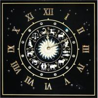 """Картина с кристаллами Сваровски """"Часы""""Знаки Зодиака"""""""""""