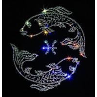 """Картина с кристаллами Сваровски """"Рыбы ажурные"""""""