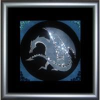 """Картина с кристаллами Сваровски """"Символ года-дракон"""""""